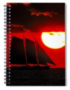Key West Sunset Sail Silhouette Spiral Notebook