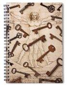 Keys On Artwoork Spiral Notebook