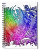 Keys To The City Cool Rainbow 3 Dimensional Spiral Notebook
