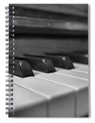 Keys To The Piano Spiral Notebook