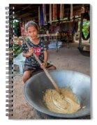 Khmer Girl Makes Sugar Cane Candy Spiral Notebook