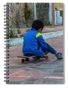 Kid Skateboarding Spiral Notebook