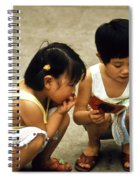 Kids In China 1986 Spiral Notebook