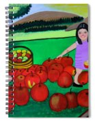 Kids Playing And Picking Apples Spiral Notebook