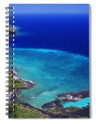 Kiholo Bay Aerial Spiral Notebook