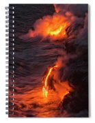 Kilauea Volcano Lava Flow Sea Entry - The Big Island Hawaii Spiral Notebook