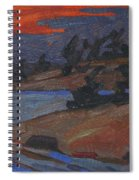 Killbear Flagged Pines At Sunset Spiral Notebook