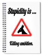Killing Bigstock Donkey 171252860 Spiral Notebook