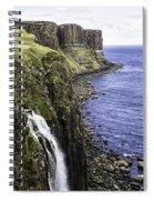 Kilt Rock On The Isle Of Skye Spiral Notebook
