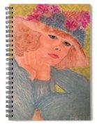 Kim Alexis In Flowery Hat Spiral Notebook