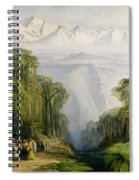 Kinchinjunga From Darjeeling Spiral Notebook