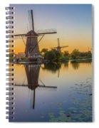 Kinderdijk At Sunset Spiral Notebook