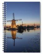 Kinderdijk In The Blue Hour Spiral Notebook