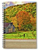 Kindred Barns Painted Spiral Notebook