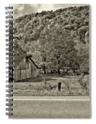 Kindred Barns Sepia Spiral Notebook