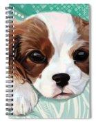 Spaniel Puppy Resting Spiral Notebook