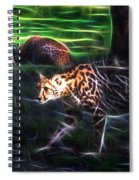 King Cheetah And 3 Cubs Spiral Notebook