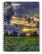 King Cotton Sunset Art Statesboro Georgia Spiral Notebook