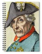 King Frederick II Of Prussia Spiral Notebook