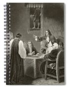 King James II Of England Facing Bishops Spiral Notebook