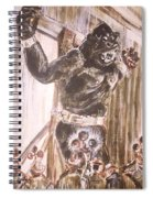 King Kong - Flashbulbs Anger Kong Spiral Notebook