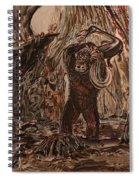 King Kong - Kong Battles A Serpentine Dinosaur Spiral Notebook