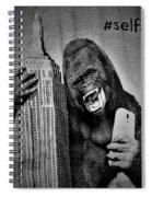 King Kong Selfie B W  Spiral Notebook