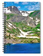 King Lake At Rollins Pass T Spiral Notebook