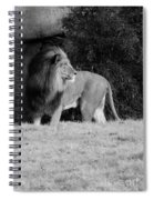 King Of Beasts Black And White Spiral Notebook