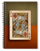 King Of Diamonds In Wood Spiral Notebook