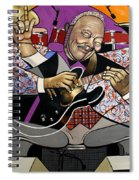 King Of The Blues Spiral Notebook