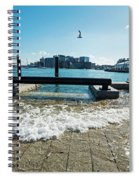 King Tide On The Boston Waterfront Boston Ma Spiral Notebook