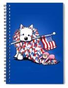 Kiniart Portrait Of Liberty Spiral Notebook
