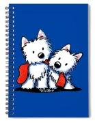 Kiniart Red Sock Westies Spiral Notebook