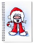 Kiniart Snorkel Westie Santa Spiral Notebook