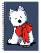 Kiniart Westie In Red Bow Spiral Notebook