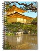 Kinkakuji Golden Pavilion Kyoto Spiral Notebook