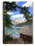 Kintla Lake Ranger Station Glacier National Park Spiral Notebook