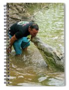 Kissing A Crocodile Spiral Notebook