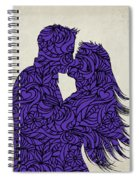 Kissing Couple Silhouette Ultraviolet Spiral Notebook