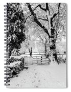 Kissing Gate In The Snow Spiral Notebook