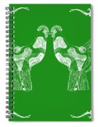 Kissing Roosters 3 Spiral Notebook