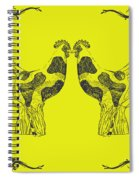 Kissing Roosters 5 Spiral Notebook