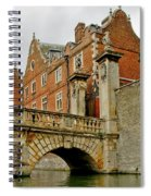 Kitchen Or Wren Bridge And St. Johns College From The Backs. Cambridge. Spiral Notebook
