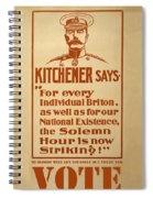 Kitchener Redux - Vote Spiral Notebook