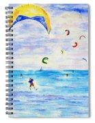 Kite Surfer Spiral Notebook