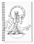 Kitsune Lady Spiral Notebook