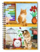 Kitten Hideout Spiral Notebook