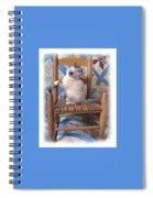 Kitten In The Rocker Spiral Notebook