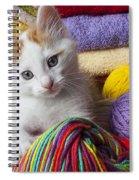 Kitten In Yarn Spiral Notebook